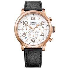 Relógio Tommy Hilfiger Masculino Couro Preto - 1791236