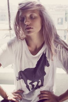 Wildfox Couture Black Stallion Box Tee in Clean White Street Chic, Street Style, Teen Fashion, Fashion Outfits, Black Stallion, Holy Chic, Love T Shirt, City Style, Couture