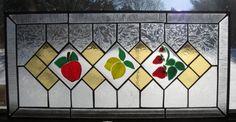 Juicy Fruit Stained Glass Panel Window sun by TreasuresOfLight, $199.00