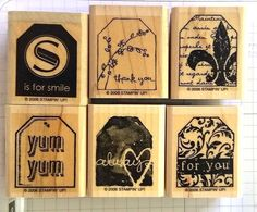 Stampin' Up! TOO TERRIFIC TAGS smile thank you fleur-de-lis yum always for you #StampinUp #Background