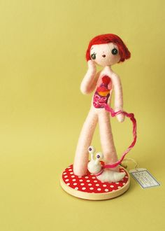 【Hine Mizushima】The Unnatural History Museum Part 1 - Anatomical Female B ♥ Felt Needle Wool Doll
