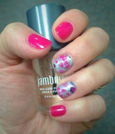 Jamberry Nails Pretty Kitty and Haute Pink. #prettykittyjn #hautepinkjn #cuticleoiljn