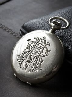 Vintage engraved pocket watch