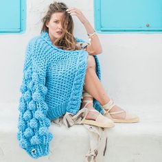 Aegean Blue via @sevastiana_k #handmade #fashion #knit #oversize #blue #cardigan #cozy #chunky #aegean #mykonos #greece #fashionblogger #statement #styleblogger #fashionista #streetstyle #streetfashion #spring #shop #unique #mumshandmade #theoriginal