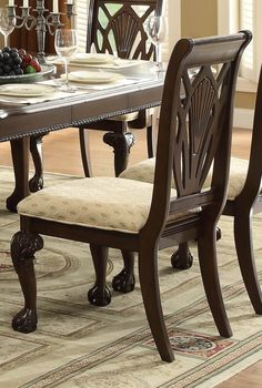 Shop Homelegance Norwich Side Chair (Set of at Lowe's Canada. Find our selection of dining chairs at the lowest price guaranteed with price match. Dinning Set, Dining Table Legs, Table And Chairs, Side Chairs, Dining Chairs, Dining Room, Elegant Dining, Chair Design, Home Decor