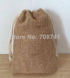 """NEW - SIZE:4""""X6""""(10.2X15.2CM), FREE SHIPPING ,JUTE BAG WITH COTTON DRAWSTRING,BURLAP BAG,JUTE POUCH,CUSTOM BAG AND LOGO ACCEPT US $79.00"""