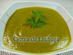 Crema de lechuga. Muy rica, saludable y fácil de hacer. Soup Recipes, Cantaloupe, Pudding, Fruit, Desserts, Blog, Gazpacho, Facebook, Youtube