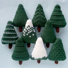 Christmas Trees Knitting Pattern | Craftsy