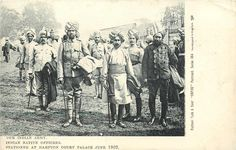 INDIAN NATIVE OFFICERS 1902 Coronation
