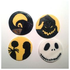 the nightmare before christmas cupcake toppers
