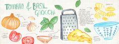 Tomato and Basil Gnocchi by Victoria Brand