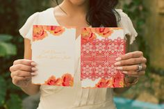 Mediterranean-styled shoot by Michelle Leo Events featured on Elizabeth Anne Designs! Photo Credit: Alixanne Loosle Photography. Orange and Coral Laser Cut Wedding Invitations by Alexis June Creative.