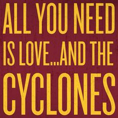 Love and Cyclones Basketball Quotes, Isu Basketball, Isu Football, Football Signs, College Basketball, Peace Pole, Funny Wood Signs, Iowa State Cyclones, Inspirational Signs