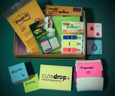 Presente muito legal que ganhamos da @Post-it Brasil. E com o cuidado de desenharem nosso logo. :)