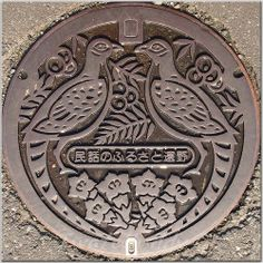 Tono Manhole Cover...great idea for wood carving!