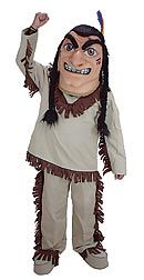 The Warrior Mascot will get your crowd cheering with his indian outfit and fierce face. This would be FABULOUS!