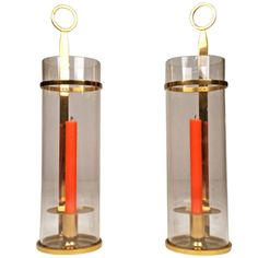 Tommi Parzinger Hurricane Lamps or Candleholders for Dorlyn | From a unique collection of antique and modern candleholders and candelabra at http://www.1stdibs.com/furniture/lighting/candleholders-candelabra/