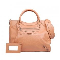 Balenciaga Orange Rose Blush Velo Bag 2012