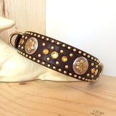 The Deluxe Dakota Leather Dog Collars, Custom Leather, Dog Treats, I Love Dogs, Beaded Bracelets, Dog Things, Puppies, Lovers, Jewelry