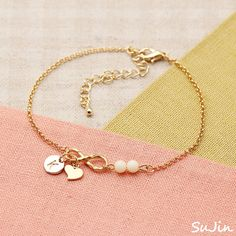 Infinity and Double Beads Connector Personalized by SuJinBiJoux, $19.95