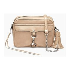 Rebecca Minkoff Large M.A.B. Camera Bag (14.725 RUB) ❤ liked on Polyvore featuring bags, handbags, silver, rebecca minkoff purse, camera bag, rebecca minkoff, beige purse and beige bag