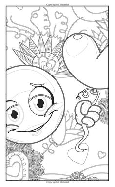 Emoji Love Coloring Book 30 Cute Fun Pages: For Adults, Teens and ...