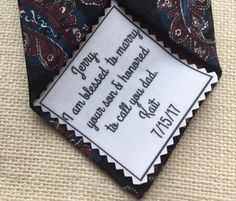 """FATHER OF the GROOM Ink Printed Patch - Choose Message & Font - 2.5"""" x 2.5"""" or 2"""" x 2"""" - Sew on or Iron On, I Am Blessed, Wedding Tie Patch #weddingaccessories #weddingtiepatches #fatherofthegroom"""