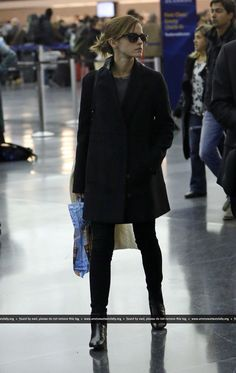 Emma Watson spotted at JFK Airport on January 19