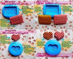 Miniature Silicone Flexible Mold Danish Cookie par MiniatureSweet, $6,25