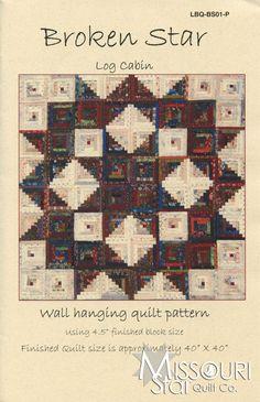 Broken Star Log Cabin Pattern from Missouri Star Quilt Co