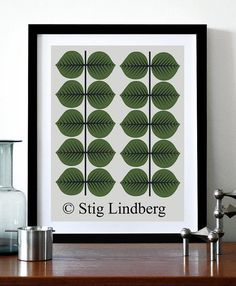 Berså Stig Lindberg poster affisch Retro 30x42cm på Tradera. Moderna