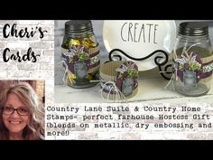 How to Make an Autumn or Thanksgiving Candy Jar Hostess Gift w/ Stampin' Up! Country Lane Suite Home Baby Shower Hostess Gifts, Shower Gifts, Teacher Appreciation Gifts, Teacher Gifts, Employee Appreciation, Card Tutorials, Video Tutorials, Foam Adhesive, Metallic Paper