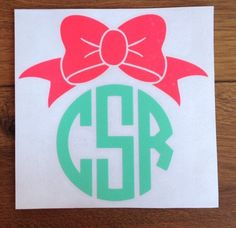 A personal favorite from my Etsy shop https://www.etsy.com/listing/231104423/bow-monogram-vinyl-decal