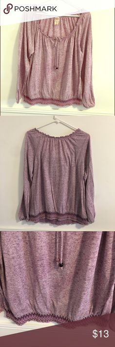 "XXL Mossimo pretty light purple top XXL Mossimo light purple top , super cute and comfy top measures 21"" cross chest , 22"" long , and sleeves are 24"" long blouse has  a loose fit Mossimo Supply Co Tops Blouses"