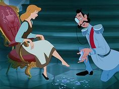 Cinderella and Prince Charming when he finds her =)
