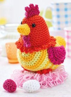 Crochet chicken free amigurumi pattern **Amigurumi Queen on Pinterest