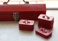 I love these tiny toolboxes (as Father's Day gifts), made from Altoids tins, that Natalie posted next door on CRAFT. If the mint tin seems a little... er... impractical for holding tools, there's a...