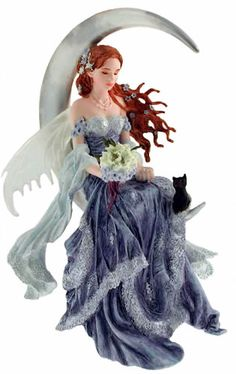 Wind Moon Fairy Figurine 83927 from the Fairies on Moons Collection by Nene Thomas