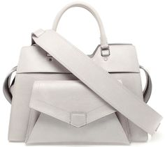 All White Handbags, Pure & Bright - Proenza Schouler PS 13 Grained Leather Tote Bag