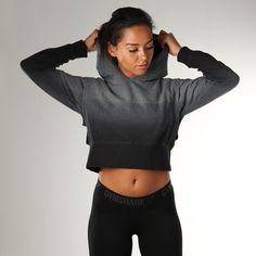 Gymshark Cirrus Cropped Pullover - Charcoal Marl at Gymshark