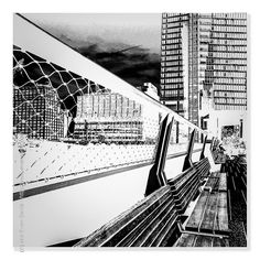 :: Ever Vanishing Horizon - #iPhotography Location - High Line #W30s #Chelsea #NYC #NewYork Subject - #Reflections #Shadows #BnW Camera - #Apple #iPhone6Plus  #EvanSante  Please consider following my #Instagram Feed - http://ift.tt/1S9w64J  2015 - Evan Santé - All Rights Reserved