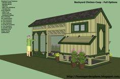 home garden plans: M200 - Perfect Options - Backyard Chicken Coop Plans - Free Chicken Coop Plans - How to build a chicken coop