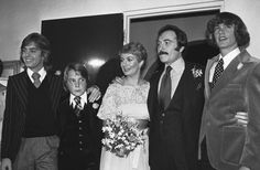 Shirley Jones with her 3 sons, Shaun (L), Patrick and Ryan (R) at her wedding to Marty Ingles 1977