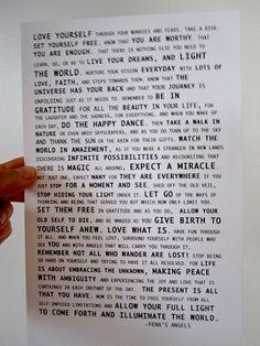 Archival art print Fena's angel message