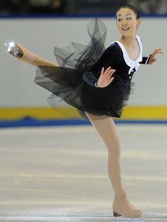 Mao Asada -Black Figure Skating / Ice Skating dress inspiration for Sk8 Gr8 Designs.