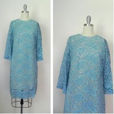 IN THE SHOP Vintage 1960s Baby Blue Lace Dress (35/36/40) http://ift.tt/1lP6fC1
