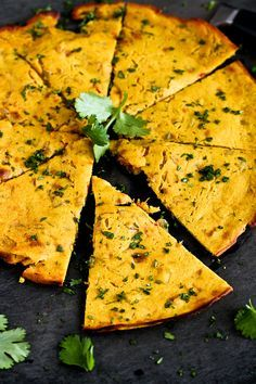 Indian Spiced Chickpea Flatbread (Socca)…You will not be able to stop eating this! 100 calories and 3 Weight Watchers SmartPoints