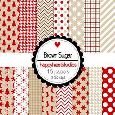 Digital Scrapbooking Brown Sugar by azredhead on Etsy, $1.50