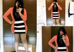 black and white striped skirt outfit - Google Search