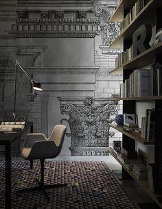 Antiqua www.wallanddeco.com #wallpaper, #wallcovering, #cartedaparati